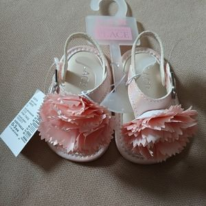 Children's Place Baby Girl Pink Flower Sandals NWT